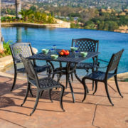 Fairview 5-pc. Outdoor Cast Aluminum Dining Set