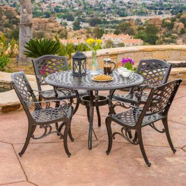 jcpenney.com | Saint Barth 5-pc. Outdoor Cast Aluminum Dining Set