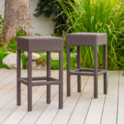 Trinidad Set of 2 Wicker Barstools