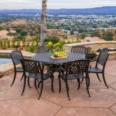 jcpenney.com | Cayman Hexagonal 7-pc. Cast Aluminum Outdoor Dining Set
