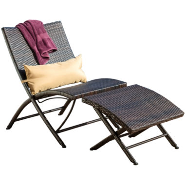 jcpenney.com | Dexter 2-pc. Outdoor Folding Lounge Chair and Ottoman Set