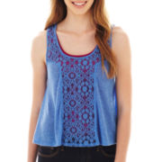 Arizona Lace-Inset Tank Top