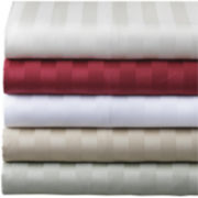 Grace Home Fashions 500tc Damask Stripe Egyptian Cotton Sheet Set