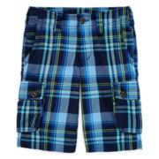 Arizona Plaid Cargo Shorts - Boys 8-20, Slim and Husky
