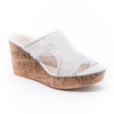 jcpenney.com | Andrew Geller Danika Slip-On Wedge Sandals