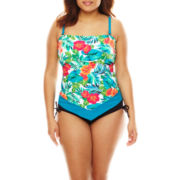 Pure Paradise® Jungle Flower Bandini Swim Top or Hipster Swim Bottoms