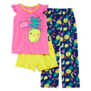 Okie Dokie® 3-pc. Aloha Sleepwear Set - Preschool Girls 4-6x
