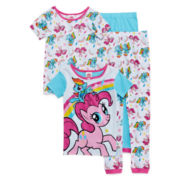 Disney® 4-pc. Rainbow Pony Sleepwear Set - Girls 4-10