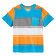 Arizona Short-Sleeve Stripe Tee - Toddler Boys 2t-5t