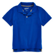 Arizona Short-Sleeve Solid Cotton Polo - Toddler Boys 2t-5t