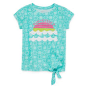Arizona Short-Sleeve Tie Front Tee - Toddler Girls 2t-5t