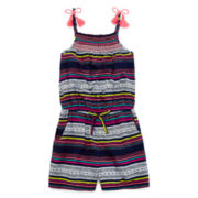 Arizona Sleeveless Tassel-Strap Romper - Preschool Girls 4-6x