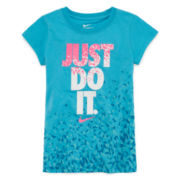 Nike® Short-Sleeve Modern Cotton Tee - Preschool Girls 4-6x