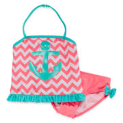 Breaking Waves 2-pc. Tankini and Swim Bottoms Set - Toddler Girls 2t-5t