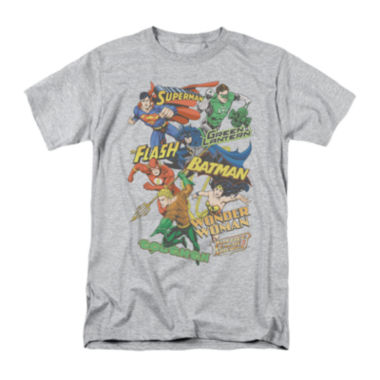 jcpenney.com | DC Comics® Group Shot Short-Sleeve Cotton Tee