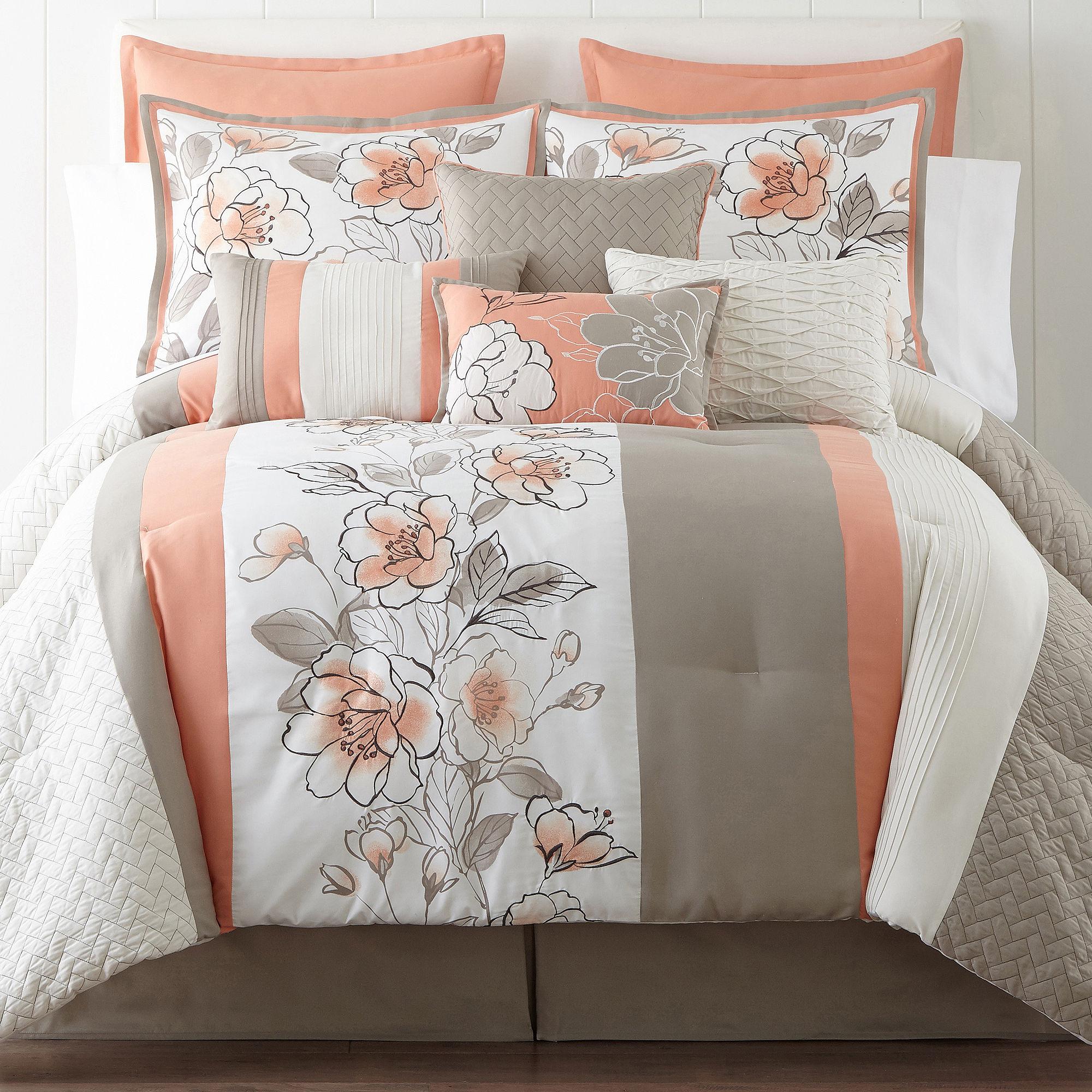 Deals Home Expressions Grace 10 Pc Comforter Set Limited