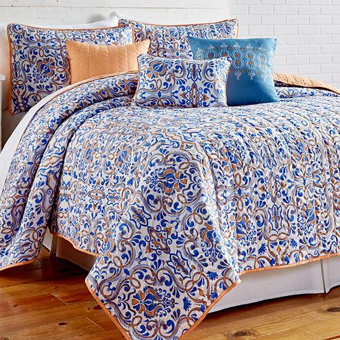Pacific Coast Textiles Lauretta 6-pc. Reversible Quilt Set