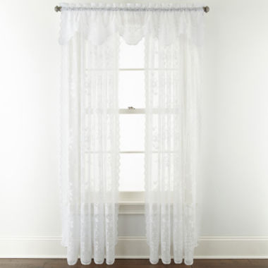 jcpenney.com | Home Expressions™ Jessica Lace Rod-Pocket Window Treatments