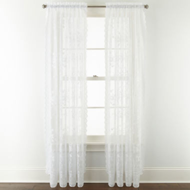 jcpenney.com | Home Expressions™ Jessica Lace Rod-Pocket 2-Pack Curtain Panels