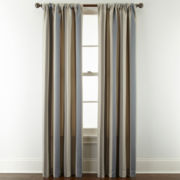 Royal Velvet® Lazarro Stripe Rod Pocket/Back Tab Curtain Panel