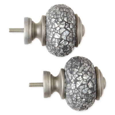 JCPenney Home™ Mix & Match Set of 2 Crackle Glass Finials