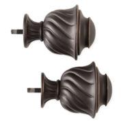 JCPenney Home™ Mix & Match Set of 2 Twist Finials