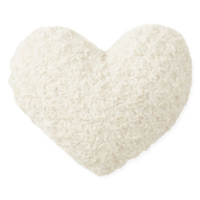 JCPenney Home™ Rose Faux Fur Heart Shaped Decorative Pillow ...