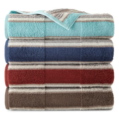 jcpenney.com | JCPenney Home™ Farmhouse Stripe Bath Towels
