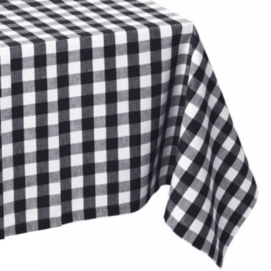 jcpenney.com | Design Imports Checkers Black & White Tablecloth