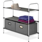 Whitmor 3-Tier Shelf With 2 Drawers