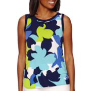 Liz Claiborne® Sleeveless Framing Trim Top