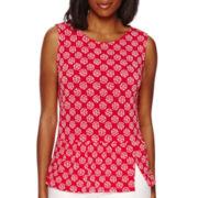 Liz Claiborne® Sleeveless Knit Peplum Top