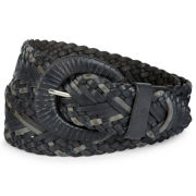 Woven Belt with Metallic Strips