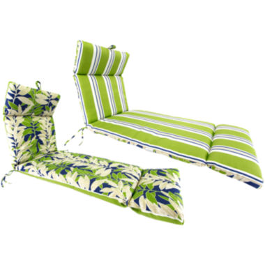 "jcpenney.com | French-Edge 22x72"" Reversible Chaise Chair Cushion"
