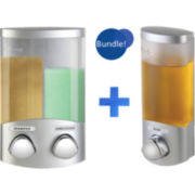 Euro Duo & Uno Chrome Liquid Soap & Shampoo Dispensers