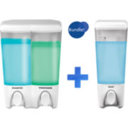 Clear Choice White Single & Double Liquid Soap Dispensers