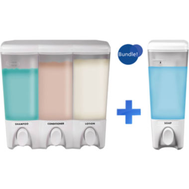 jcpenney.com | Clear Choice White Single & Triple Liquid Soap Dispensers