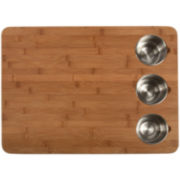 Core Bamboo™ Pro-Chef Butcher's Cutting Board + 3 Prep Bowls