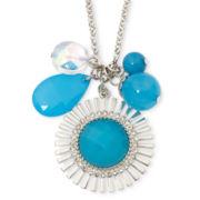 Mixit® Gold-Tone Aqua Flower Charm Necklace