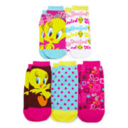 5-pk. Spoiled Tweety Bird Low Cut Socks