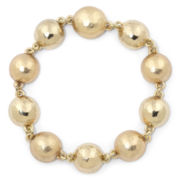 Monet Gold-Tone Orb Magnetic Closure Bracelet