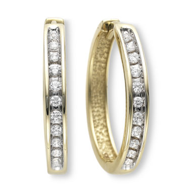 jcpenney.com | ⅓ CT. T.W. Diamond Hoop Earrings