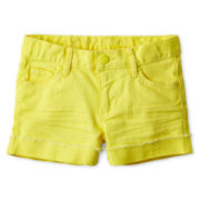 Joe Fresh™ Colored Denim Shorts - Girls 4-14