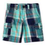 Arizona Plaid Cargo Shorts - Boys 12m-6y