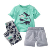 Carter's® 3-pc. Dinosaur Pajama Set - Boys 12m-24m