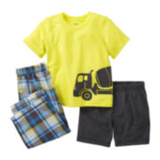 Carter's 3-pc. Truck Pajama Set - Boys 12m-24m
