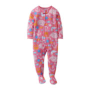 Carter's® Pink Whale Footed Pajamas - Girls 12m-24m