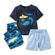 Carter's 3-pc. Whale & Submarine Pajama Set - Boys 2t-5t