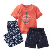 Carter's 3-pc. Captain Adorable Pajama Set - Boys 2t-5t