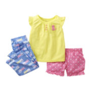 Carter's® 3-pc. Cat Pajamas - Girls 2t-5t